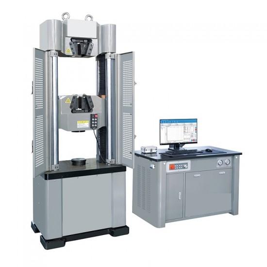 Electro-hydraulic universal testing machine with 300 kN servo drive