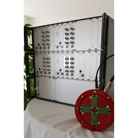 32-channel telemetry complex for providing strain-gauge measurements during GTE tests